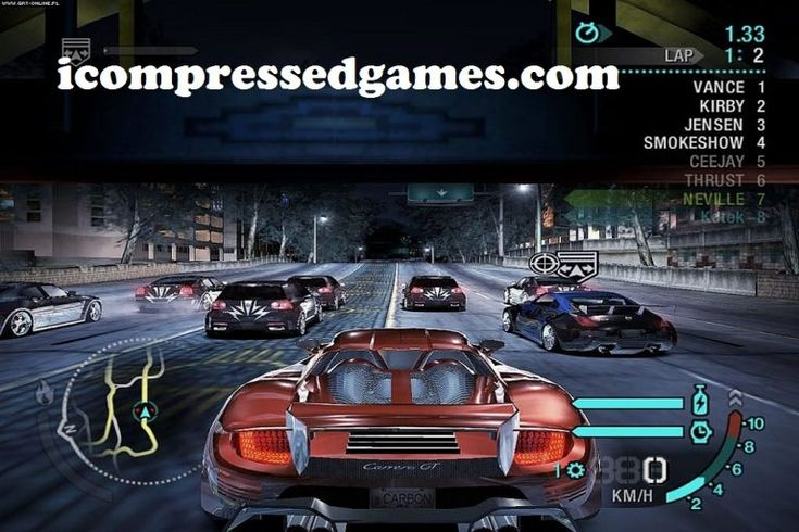 Need For Speed Carbon Highly Compressed 600 Mb Pc Game Need For Speed Carbon Need For Speed Gaming Pc