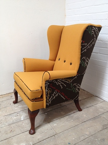 Wing Back Chair - Parker Knoll meets Paul Smith 2012 - Reconditioned & Brought Back to Life & Bespoke £595