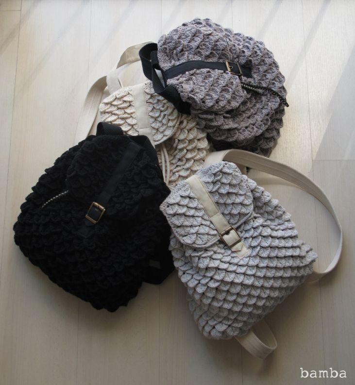 72 Best Crochet Packsacks Images On Pinterest Crochet Bags