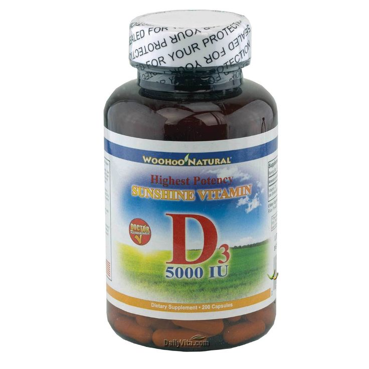 Maximum Strength Vitamin D (D-3) 5000 IU 200 Caps High Potency MADE IN USA