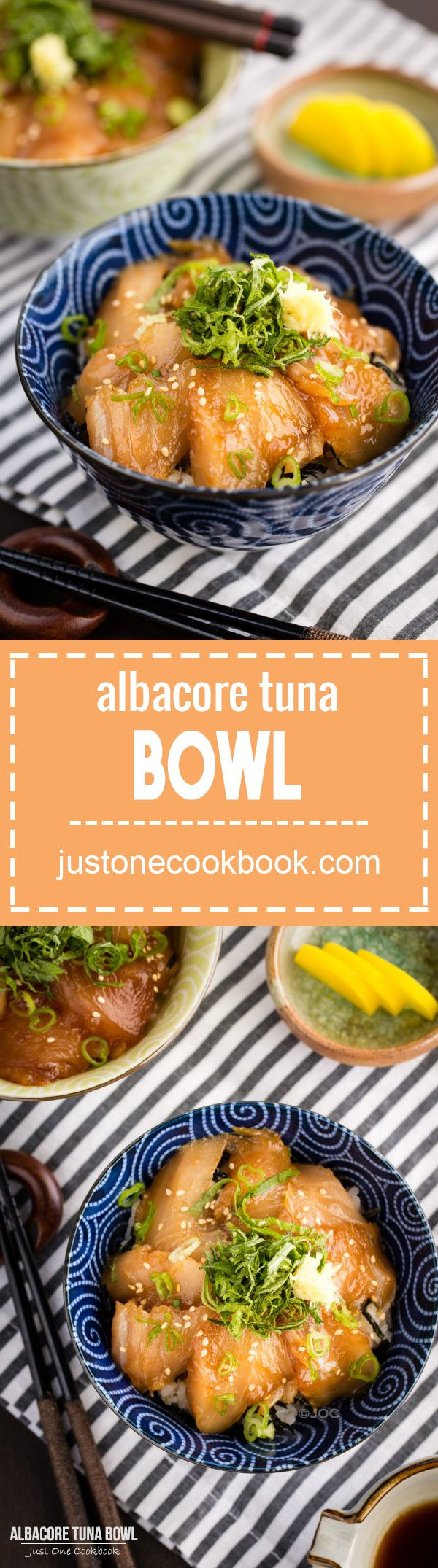 Albacore Tuna Bowl (びんちょう鮪の漬け丼) | Easy Japanese Recipes at JustOneCookbook.com