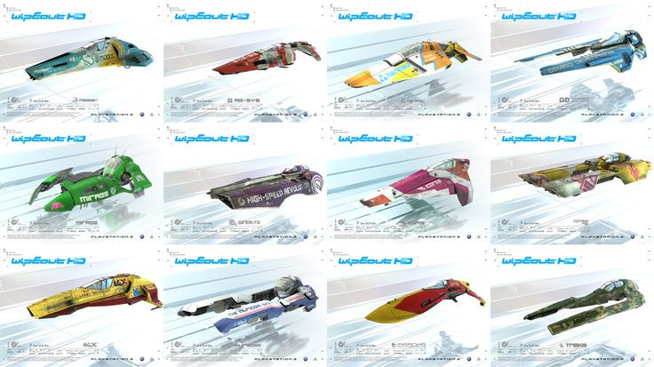 wipeout HD cars