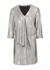 Dress with frill detail Silver