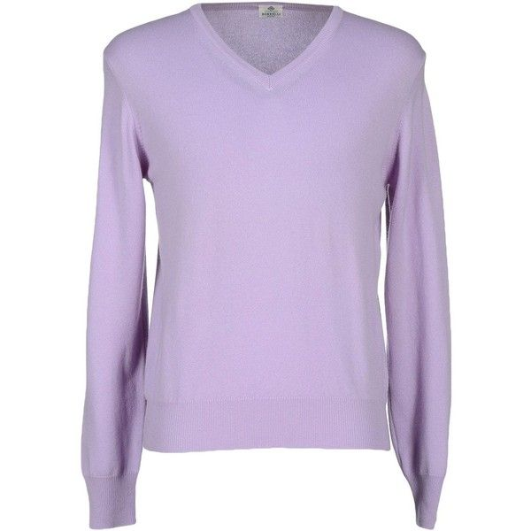 Luigi Borrelli Napoli Sweater ($339) ❤ liked on Polyvore featuring men's fashion, men's clothing, men's sweaters, lilac, mens v neck sweater, mens v-neck cashmere sweaters, mens cashmere v neck sweater, mens vneck sweater and mens cashmere sweaters
