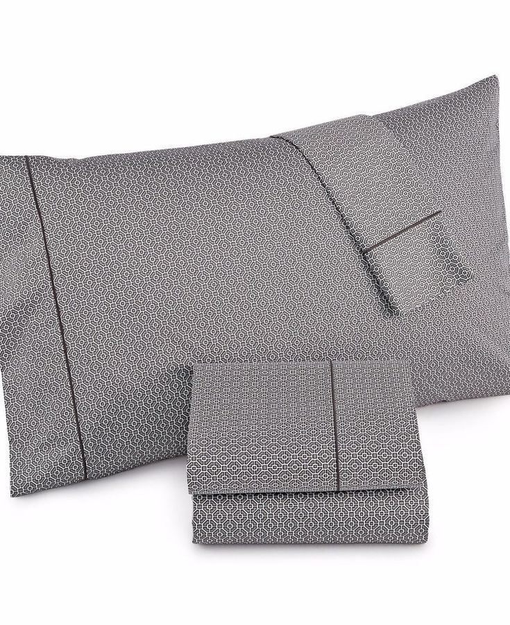 Hotel Collection 525 TC 100% Cotton CHARCOAL Printed Twin XL Sheet Set $215 #HotelCollection #Modern