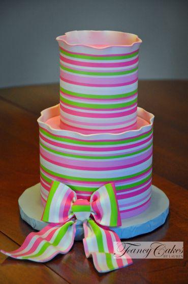 Candy Stripes Cake