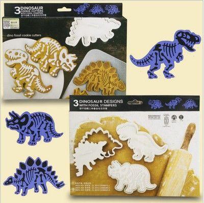 Патент динозавр бисквит формы шесть комплектов юрские окаменелости динозавра…
