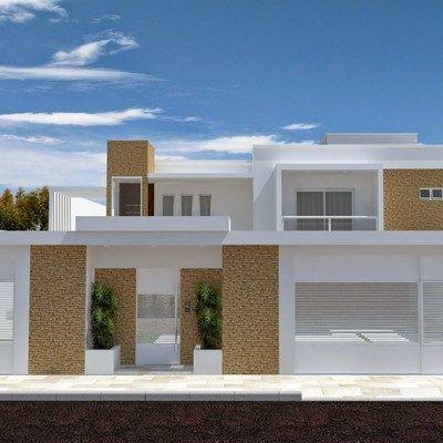 Fachadas de casas com port o pesquisa google muros e cal adas de casas pinterest search - Pintado de fachadas ...