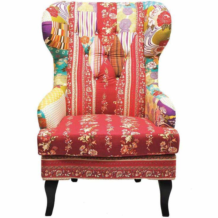 Master bedroom reading nook-Romany Patchwork Armchair | Bedroom Armchair