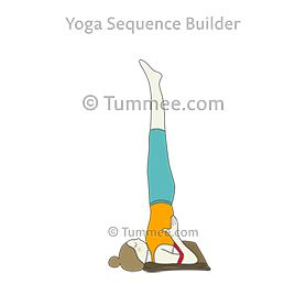 shoulderstand pose with blanket and strap yoga salamba