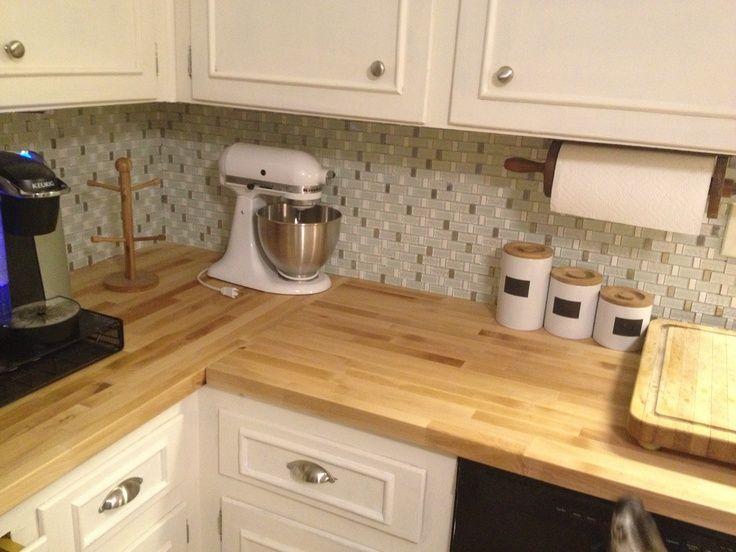 IKEA natural wood kitchen countertops