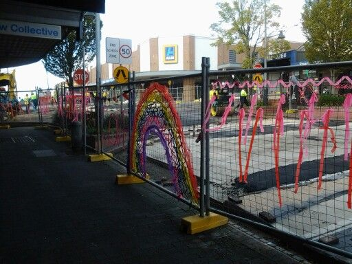 New roundabout at Katoomba/Waratah Sts takes shape but what about the decorations?