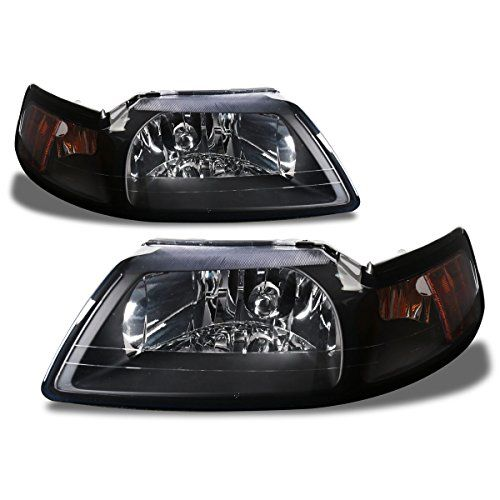 SPPC Black Headlights For Ford Mustang  Pair *** Click image for more details.