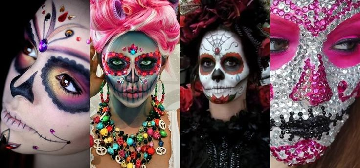 These beautiful skull makeup tutorials will take your costume to the next level