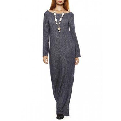 Νεανικό φόρεμα maxi μελανζέ