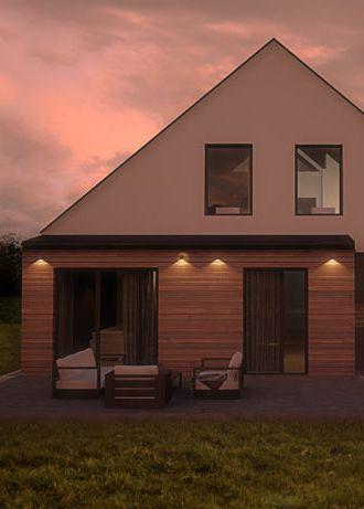 House facade design, POLAND - archi group. Elewacja domu jednorodzinnego w Orzeszu.