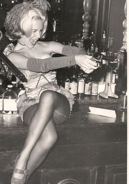 SO much fun! Vintage Saloon Girl in Satin