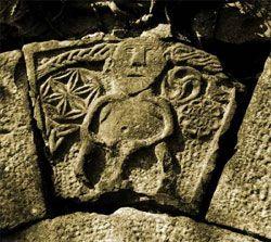 The Sheela na Gig at Ballinderry Castle near Tuam County Galway