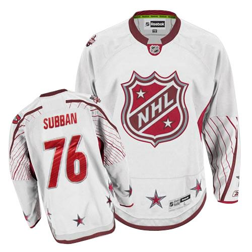 P.K Subban Jersey-Buy 100% official Reebok P.K Subban Men's Authentic 2011 All Star White Jersey NHL Montreal Canadiens #76 Free Shipping.