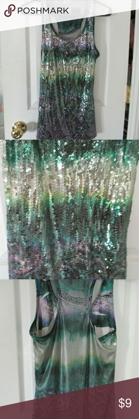 LABOR DAY WEEKED SALE Body central tank Shimmer tank.  From body central size M Tops Tank Tops