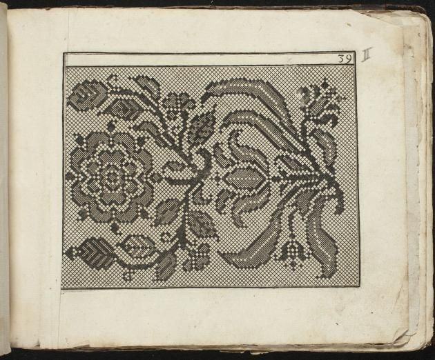 Charted designs of flowers from the 17th c.: Model Buch : Teil 1.-2 ~ c. 1660 (Fürst, Paul, ca. 1605-1666)