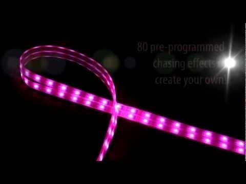 pink led lights support breast cancer awareness