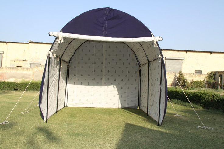 A different design of a garage tent