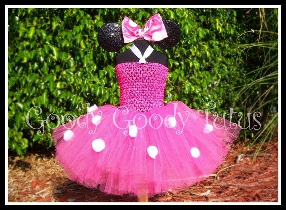 LITTLE MISS MINNIE roze gehaakte Tutu jurk en door goodygoodytutus