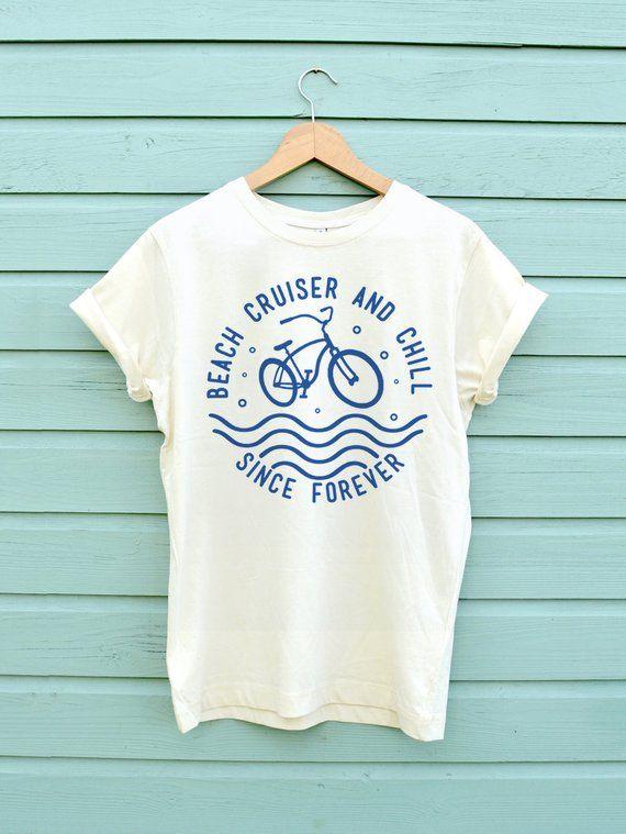 8ccf1a81c6 Beach cruiser and chill | Awesome T-Shirt Designs | Rose shirts, Bike shirts,  Hiking shirts