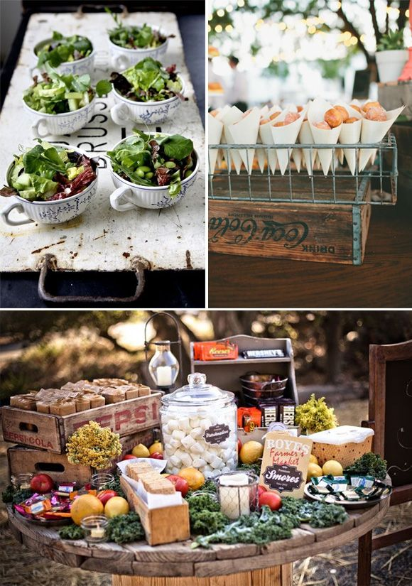 656 best wedding decor ideas images on pinterest for Comida rapida para invitados