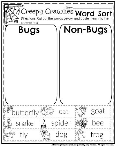 October First Grade Worksheets First Grade Activities