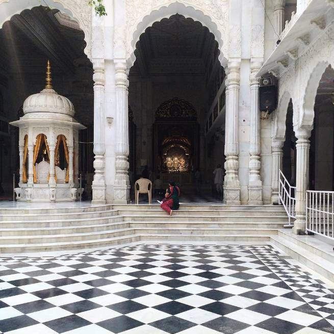 """Stepped away from the frenzy of #Mumbai into a beautiful temple"" -- @cucinadigitale #LivingGrand"