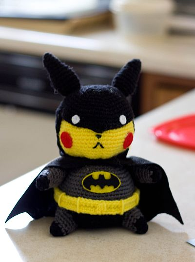Pikachu Batman Amigurumi Doll by ~Sushumo on deviantART