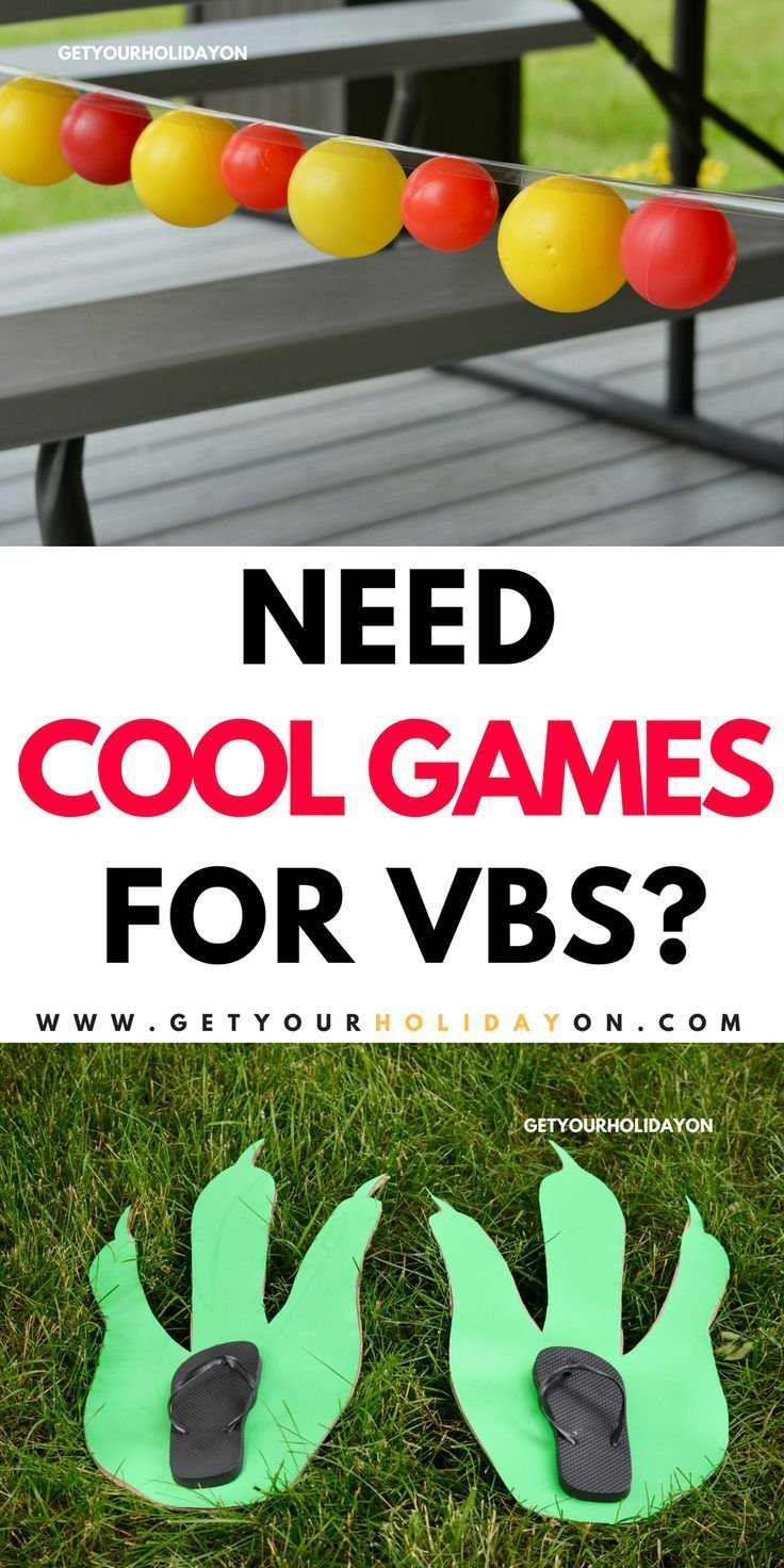 Cool Games for VBS Group games for kids, Indoor games