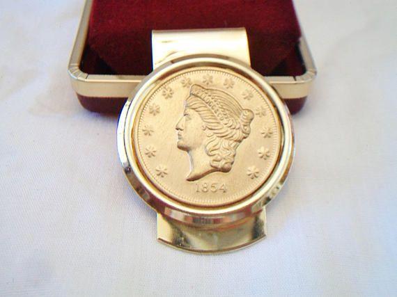 1854 coin money clip