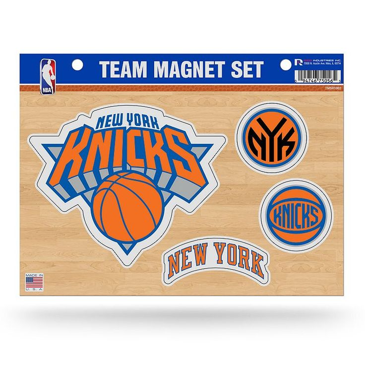New York Knicks Team Magnet Set, Multicolor
