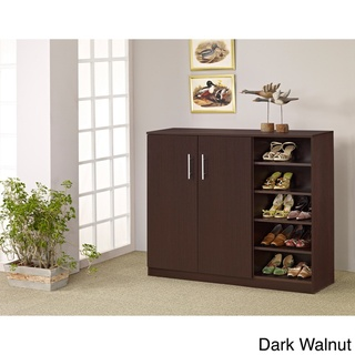 @Overstock - Westgate Oversize Shoe/ Multi-purpose Cabinet - Easily organize your shoe collection and take proper care of your shoes with this multipurpose shoe cabinet. This over-sized cabinet has open shelves for holding shoes as well as storage space behind two double doors for boots and shoe boxes.    http://www.overstock.com/Home-Garden/Westgate-Oversize-Shoe-Multi-purpose-Cabinet/4854530/product.html?CID=214117  $171.15