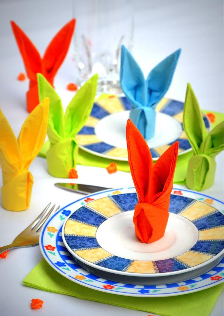 ;) Wielkanocne króliki z serwetek GAJO  || www.gajo.biz.pl