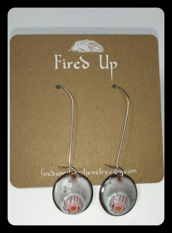 Torch Fired Enamel Earrings by FiredUpEnamelJewelry on Etsy