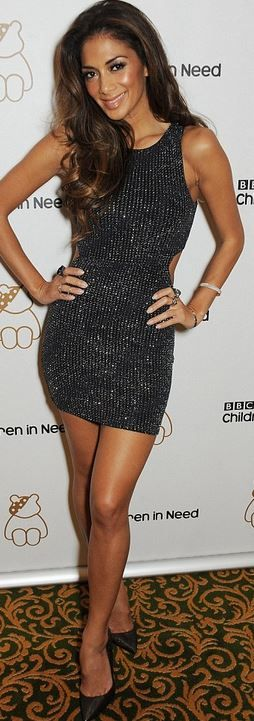 Who made Nicole Scherzinger's black cut out dress?