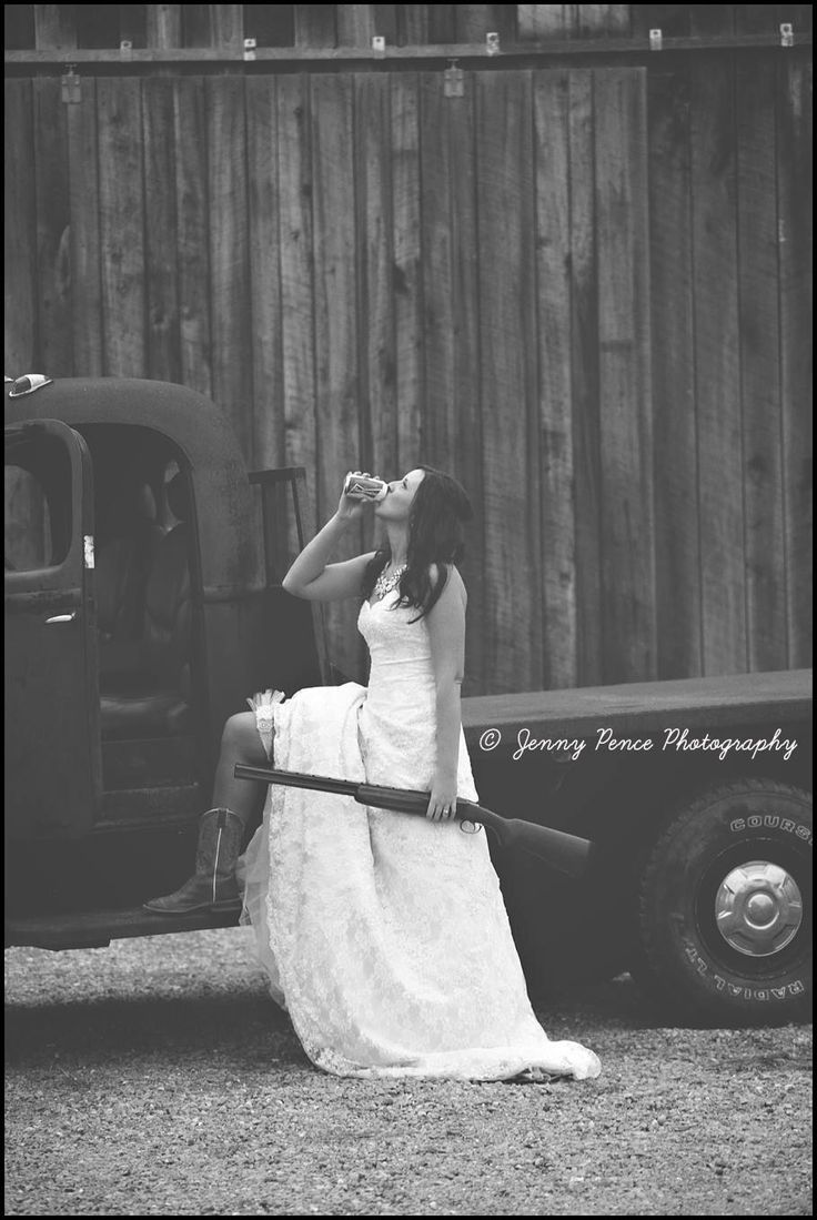 Wedding photography, country, old truck, Budweiser, beer, cowboy boots, shotgun