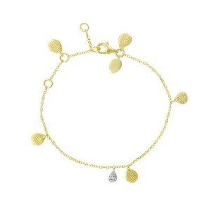 Meira T Solid Silver Vermeil Teardrop Charms accented with Diamond Teardrop Charm Bracelet for Little Girls Kids & Toddler Meira T. $129.00. Solid 14K Yellow Gold. Genuine 100% Natural Diamonds. Save 35%!