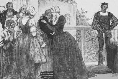 16~17世紀テューダー朝貴族女性。アン・ブーリン。 FrenchHood(フレンチフード)=女性の髪飾り。16~17世紀西ヨーロッパ。 フレンチフードは丸みを帯びた形状が特徴であるフード。髪形の上に着用され、背面に黒いベールが取り付けらている。着用時オデコは常時見えていた。 ヘンリー8世の2番目の妻であるアン・ブーリンがフランスから持ち帰り、イギリスに導入された(アンは新興富裕階級の純粋なイングランド人だが、フランスで教育を受けフランス宮廷に仕えていた)。 アンの死後、フレンチフードは後妻ジェーン・シーモアによって拒否・廃止されGableHoodへと変遷を遂げたが、ジェーンの死後、再びフレンチフードに戻った。 映画「ブーリン家の姉妹」を観る - 夫婦で楽しむナチュラル スロー ライフ