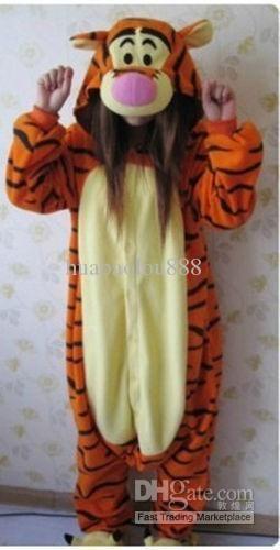 Tigger Tiger Onesie/Pajamas/Pyjamas Cosplay Costume Adult Romper Xmas From Huabaolou888, $23.69 | Dhgate.Com