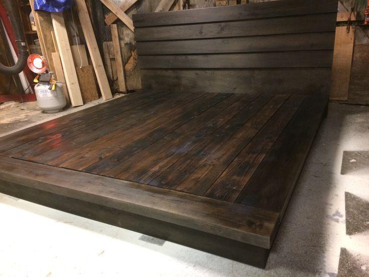 hardwood platform bed king size wood bed