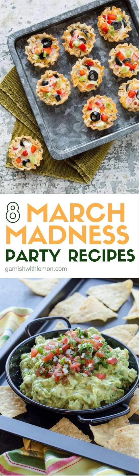 Looking for the perfect party menu? We have done the hard work for you. Be ready to host a fabulous party with these 8 March Madness Party Recipes!