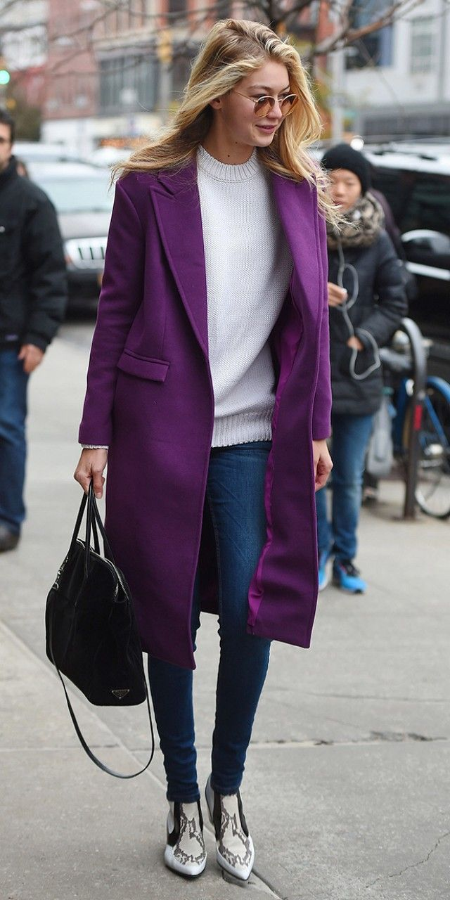 Gigi Hadid Proves Once Again That Her Coat Game is On-Point via @WhoWhatWear
