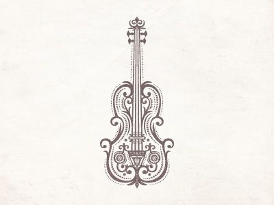 Violin .. Love the detail in this guys illustrations
