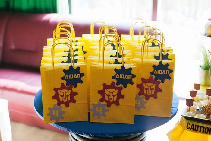 Goodie Bags from a Transformers Birthday Party via Kara's Party Ideas | KarasPartyIdeas.com (13)