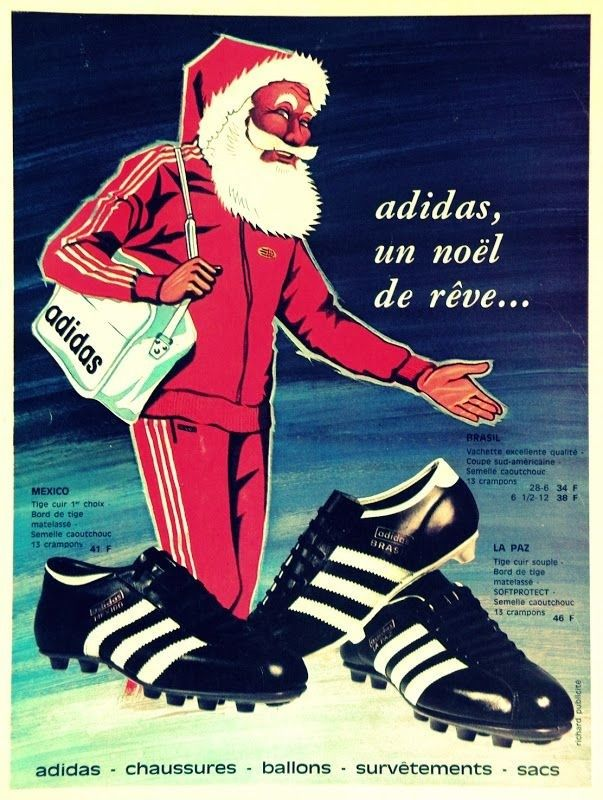 Adidas 1970s Vintage Christmas Ad With Santa In A Track